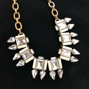 J Crew Clear Crystal Statement Necklace Wedding